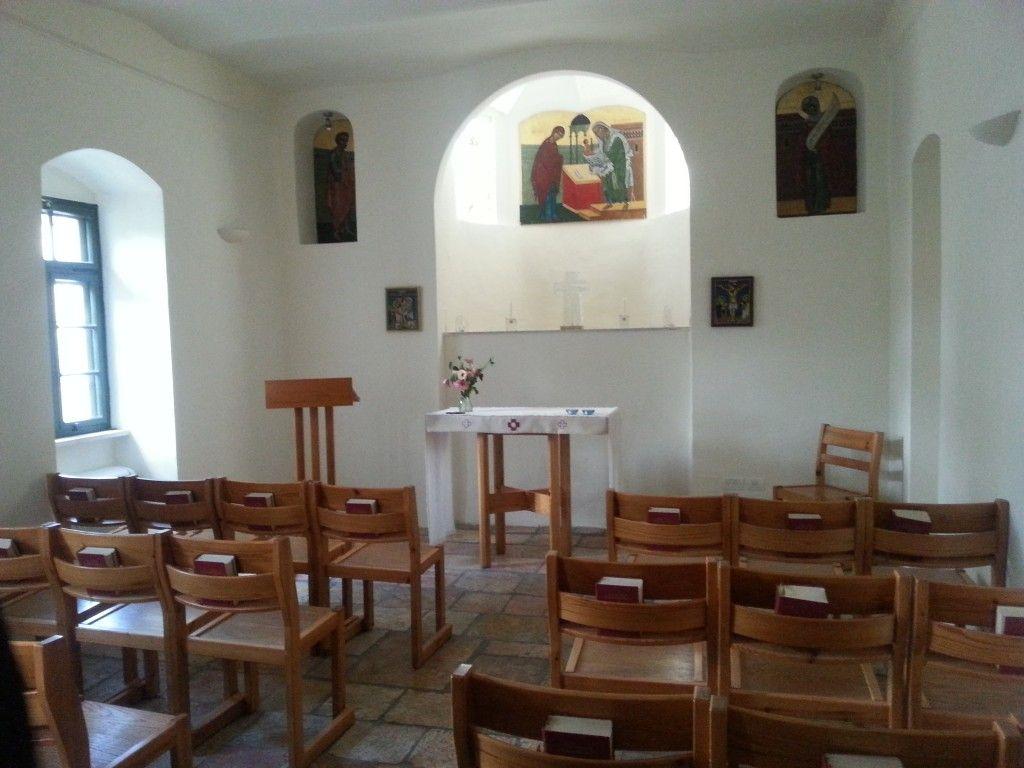 הקפלה בתוך בית תבור