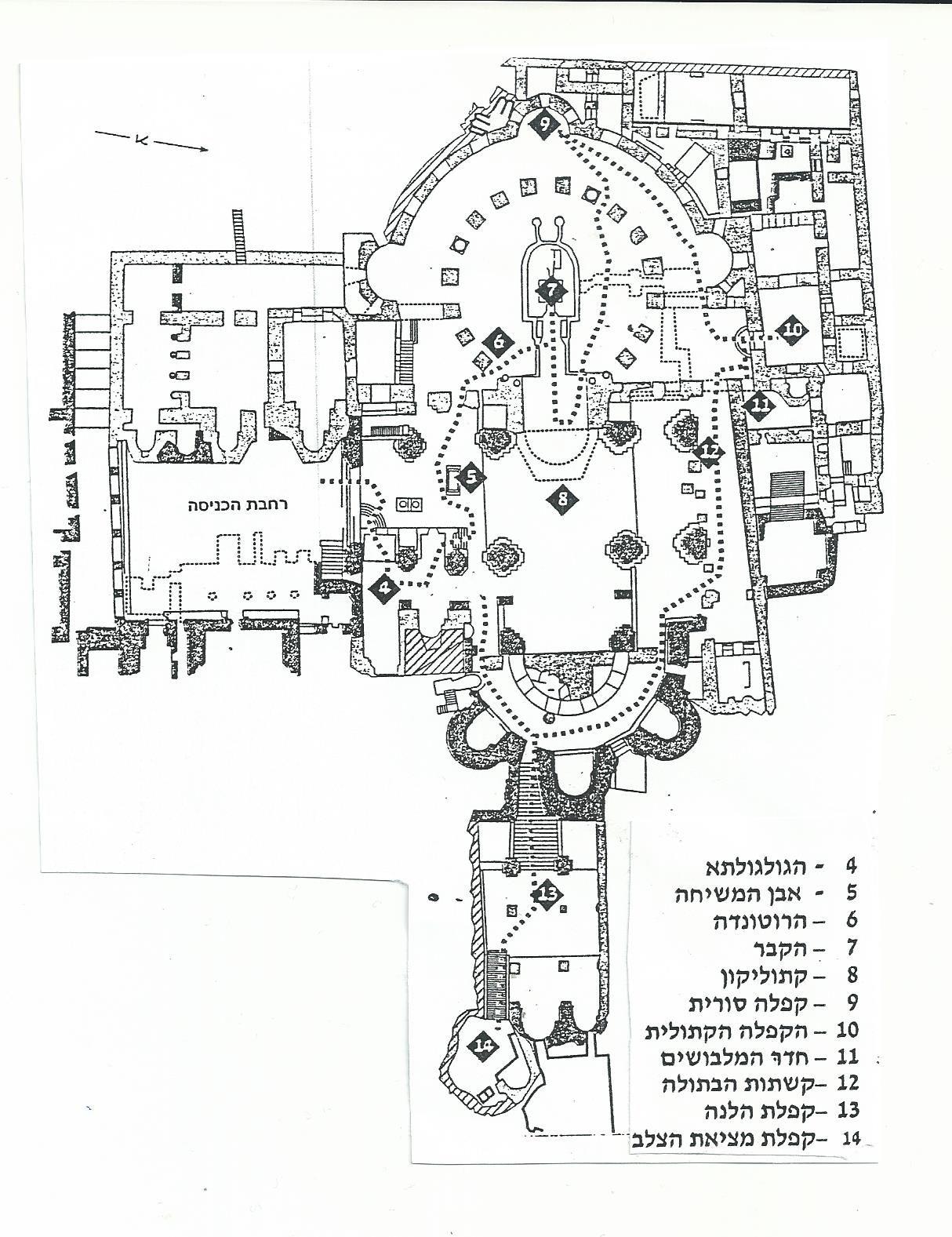 כנסית הקבר בתקופות השונות
