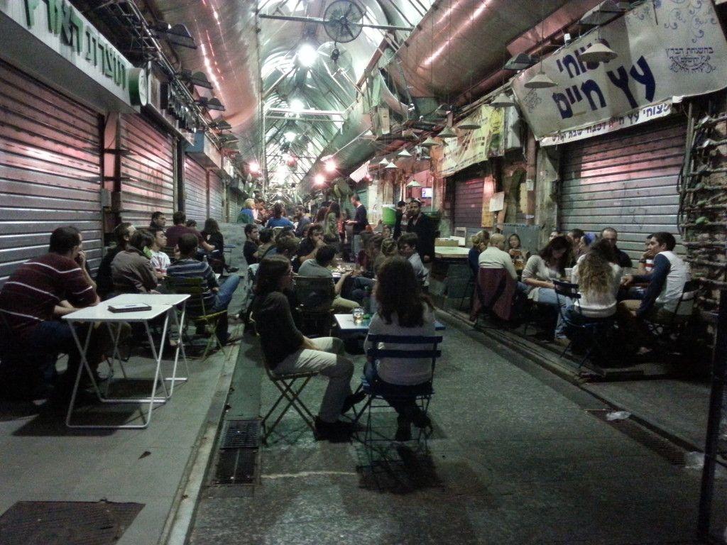 כך נראה שוק מחנה יהודה בלילה