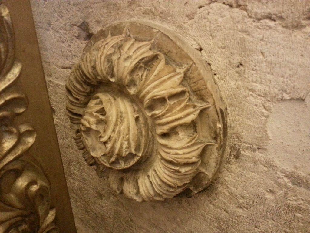 הקישוט שעל הסרקופג בקבר המלך דוד בהר ציון