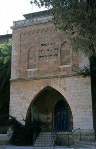 הכניסה לבניין בית הכנסת האיטלקי