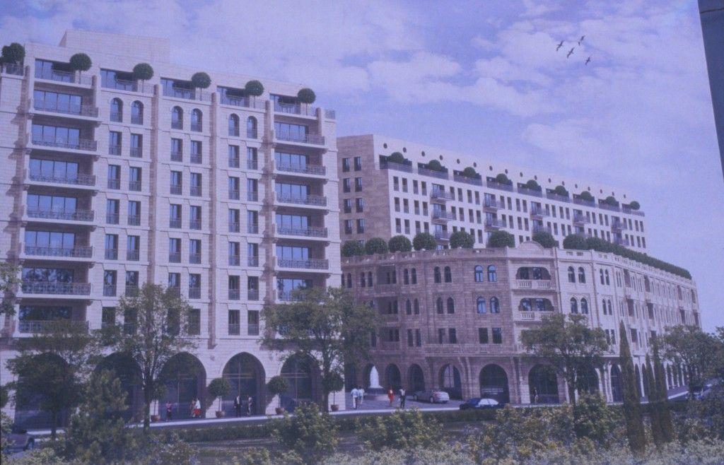 ציור הדמיה של המלון לאחר בנייתו מחדש