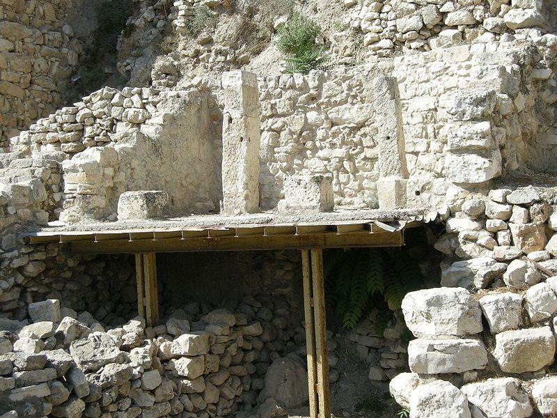בית אחיאל בשטח ג'י מבנה מסוף תקופת בית ראשון