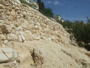 החומה היבוסית וחומת בית ראשון בשטח E