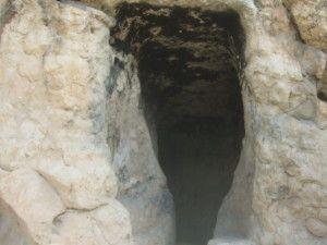 הפתח של התעלה הכנענית סמוך לבריכת השילוח