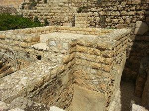 אחד המבנים הביזנטים ליד שער החפירות