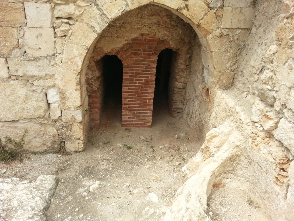 אזור מערכת החימום של בית המרחץ הרומי