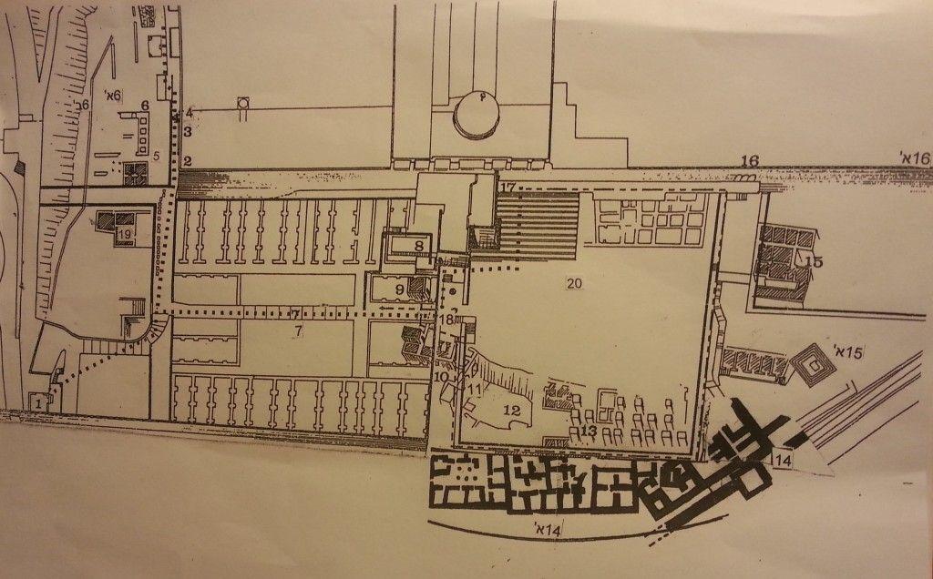 מפת הגן הארכיאולוגי