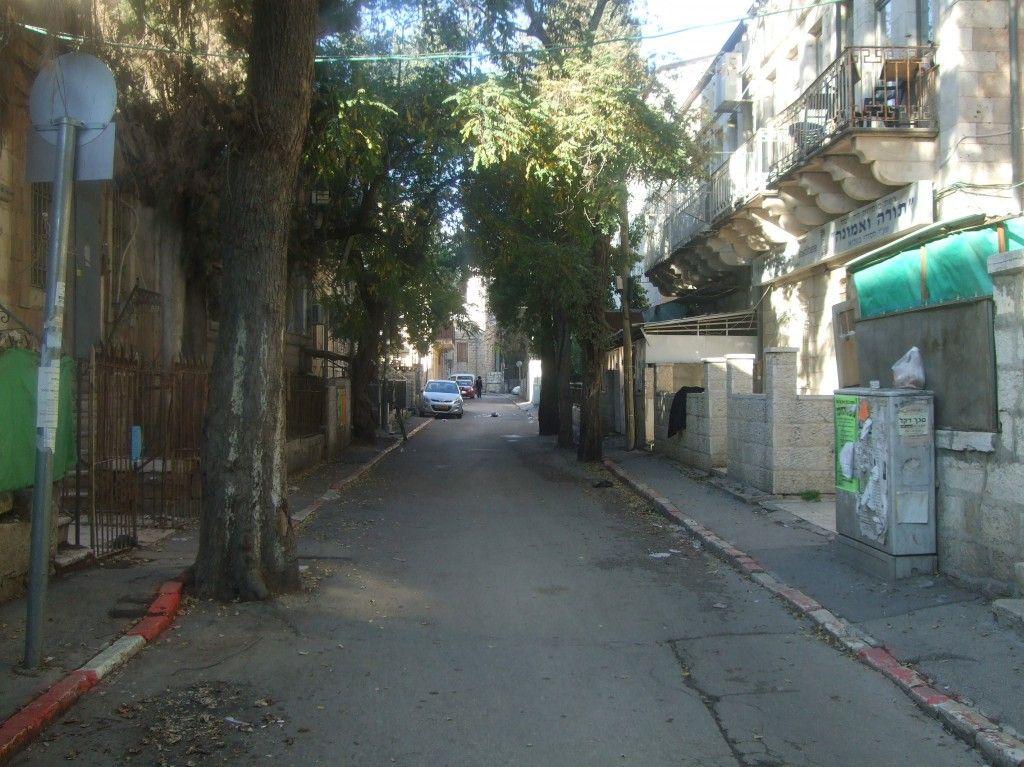 רחוב בשכונת זכרון משה כיום